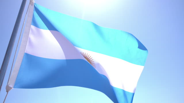 flag of argentina - argentina stock videos and b-roll footage
