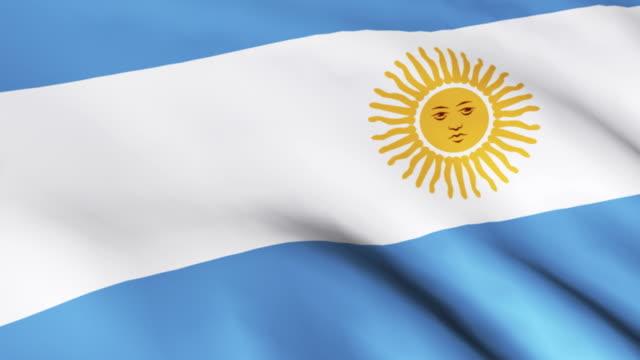 vídeos y material grabado en eventos de stock de cgi cu flag of argentina - bandera argentina