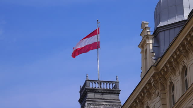 flag of austria in the wind - traditionally austrian stock videos & royalty-free footage