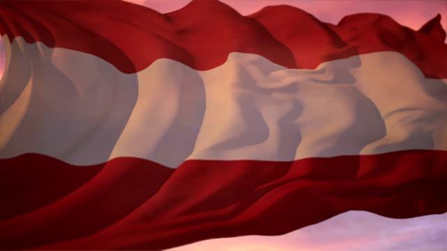 vidéos et rushes de drapeau autriche - culture autrichienne