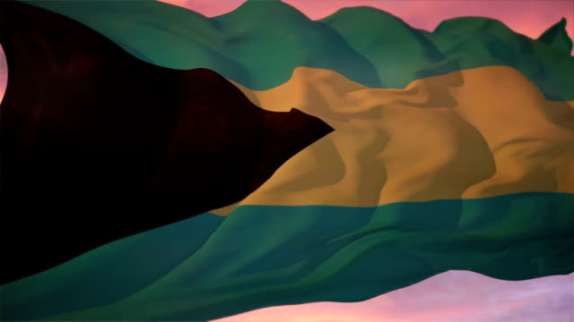 flagge der bahamas - vignettierung stock-videos und b-roll-filmmaterial