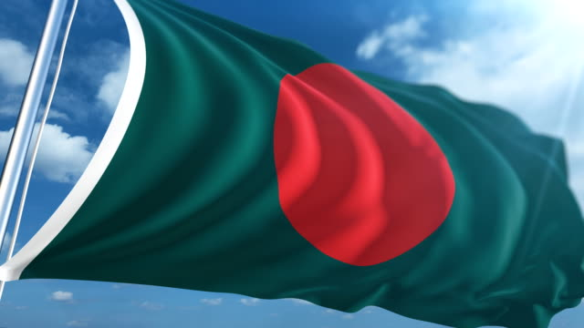 flag of bangladesh | loopable - flag of bangladesh stock videos & royalty-free footage