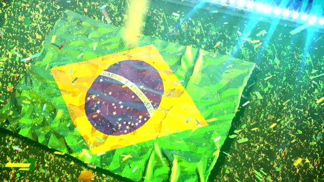 Flagge von Brasilien auf das Stadion