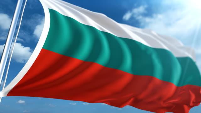 stockvideo's en b-roll-footage met vlag van bulgarije   loopbare - paalzitten