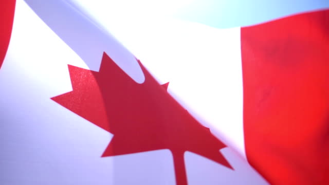 flag of canada - traditionally canadian stock videos & royalty-free footage
