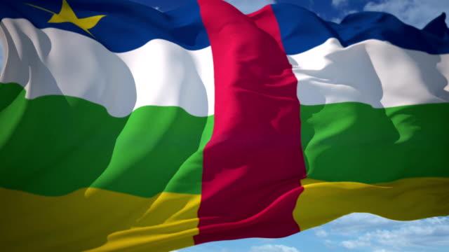 stockvideo's en b-roll-footage met vlag van centraal-afrika - vignettering