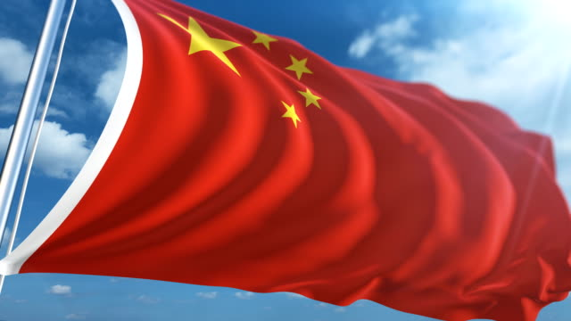 flag of china | loopable - chinese flag stock videos and b-roll footage