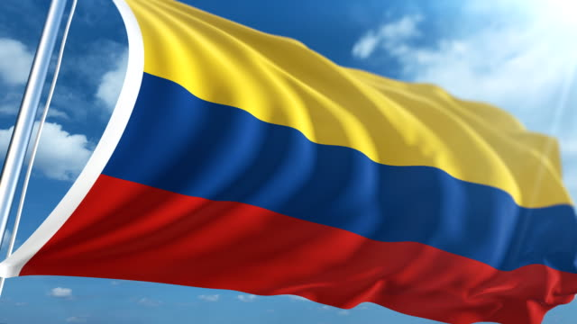 flag of colombia | loopable - colombian flag stock videos and b-roll footage