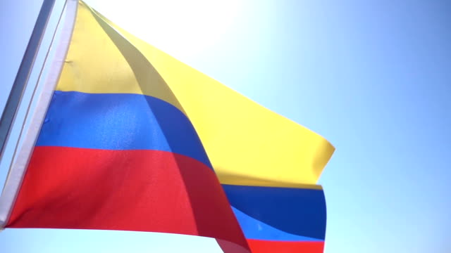 flag of colombia - colombian flag stock videos and b-roll footage
