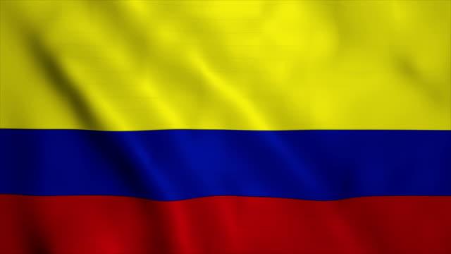 vídeos de stock e filmes b-roll de flag of columbia - colômbia