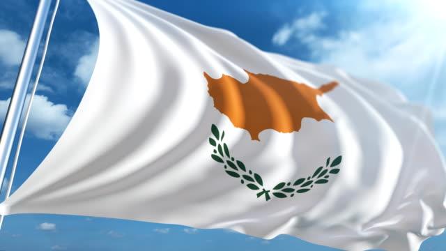 stockvideo's en b-roll-footage met vlag van cyprus   loopbare - paalzitten