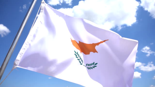flag of cyprus - republic of cyprus stock videos & royalty-free footage