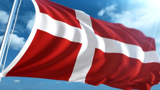 vídeos y material grabado en eventos de stock de bandera de dinamarca | loopable - danish flag