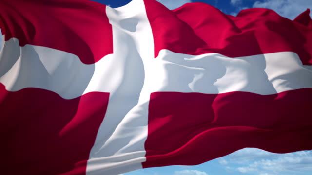 stockvideo's en b-roll-footage met vlag van denemarken - vachtpatroon