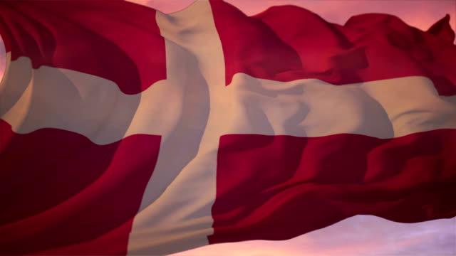 vídeos y material grabado en eventos de stock de bandera de dinamarca - danish flag