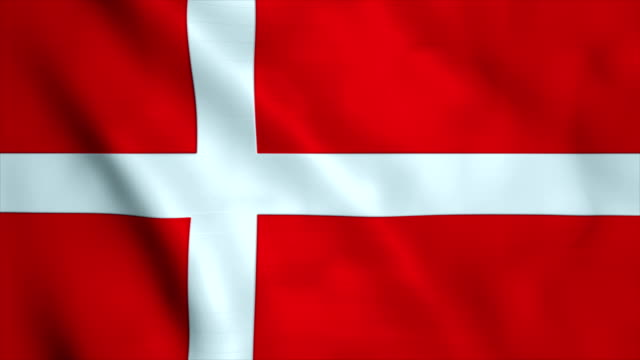 flag of denmark - denmark stock videos & royalty-free footage