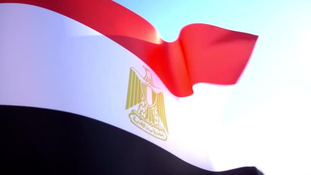 flag of egypt - revolution stock videos & royalty-free footage