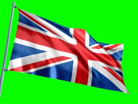bandiera dell'inghilterra in chiave di crominanza - bandiera inglese video stock e b–roll