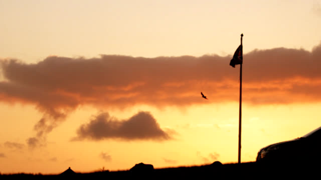 flag of england - lands end cornwall stock videos and b-roll footage