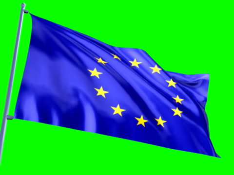 flag of european union - all european flags stock videos and b-roll footage