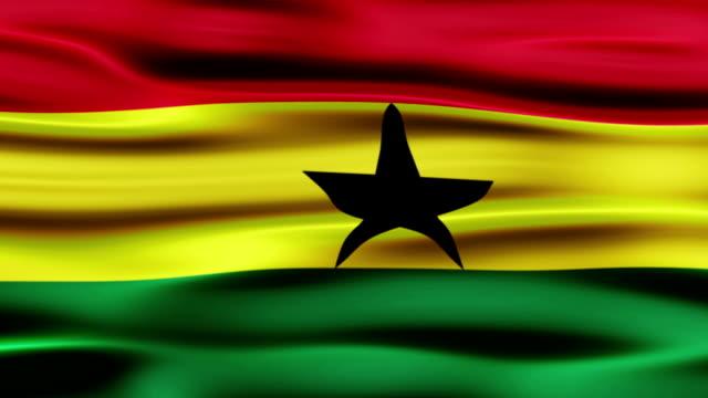 stockvideo's en b-roll-footage met flag of ghana - ghana