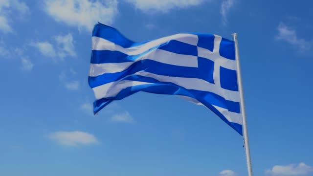 ギリシャの国旗 - ギリシャ国旗点の映像素材/bロール