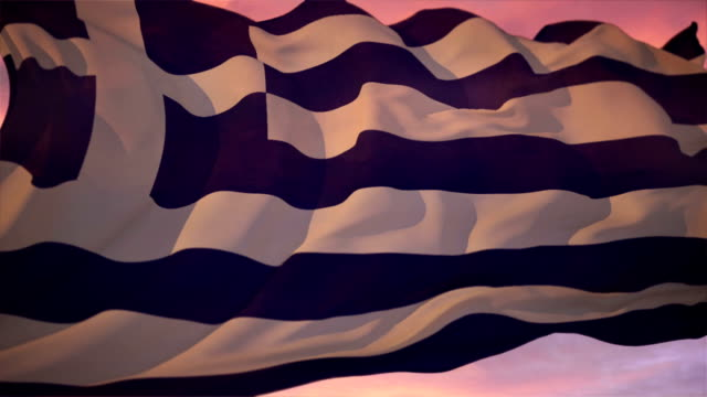 flag of greece - greek flag stock videos & royalty-free footage