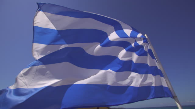 flag of greece - debt stock videos and b-roll footage