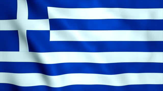 flagge von griechenland - griechische flagge stock-videos und b-roll-filmmaterial