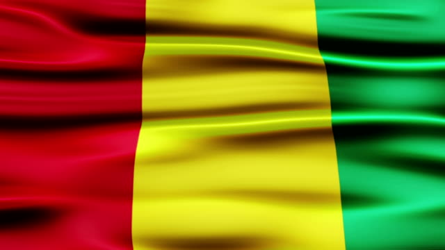 flag of guinea - satin stock videos & royalty-free footage