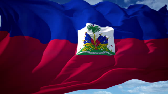 stockvideo's en b-roll-footage met vlag van haïti - haïti