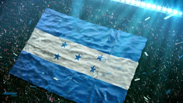Flag of Honduras at the stadium