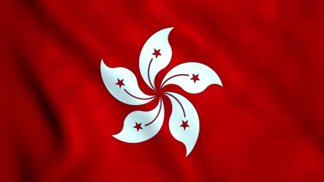 flag of hong kong - hong kong flag stock videos & royalty-free footage