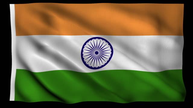 4K Fahne von Indien Alpha Loopable
