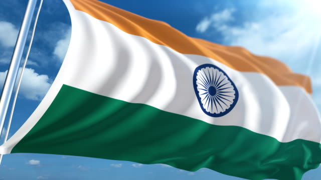flag of india | loopable - democracy stock videos and b-roll footage