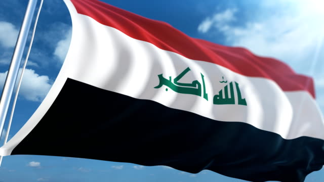 flag of iraq | loopable - iraqi flag stock videos and b-roll footage