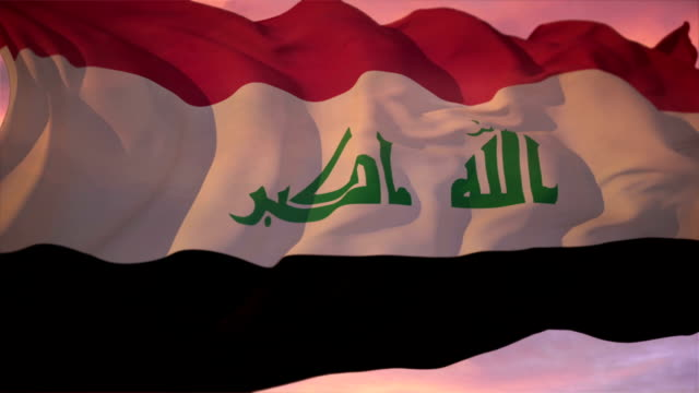 flag of iraq - saddam hussein stock videos and b-roll footage