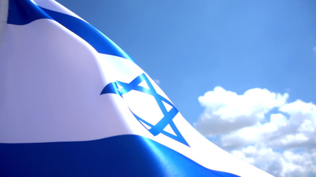 flagge von israel high-detailarbeit - judaism stock-videos und b-roll-filmmaterial