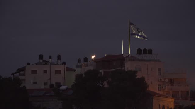 flag of israel - jerusalem stock videos & royalty-free footage