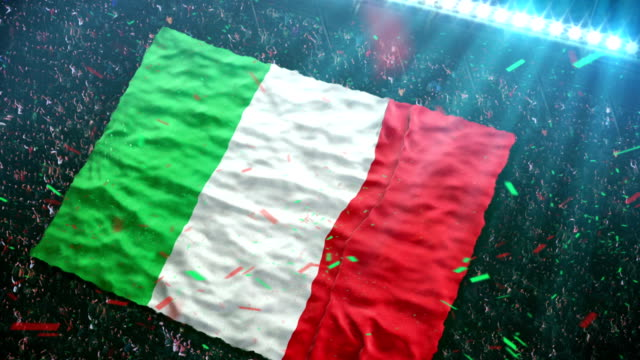 Flag of Italy at the stadium