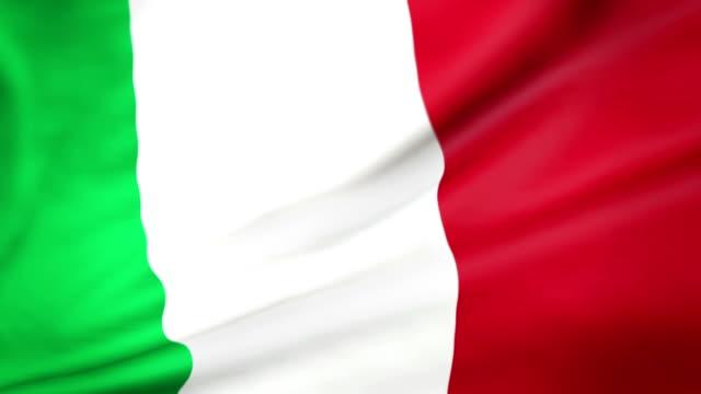 flagge von italien endlos wiederholbar bandiera d'italia - italienische flagge stock-videos und b-roll-filmmaterial