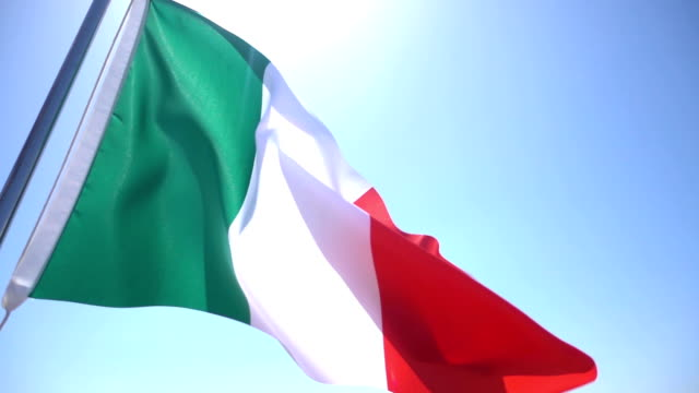 flag of italy - national flag stock videos & royalty-free footage