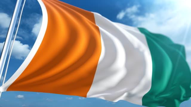Flag of Ivory Coast   Loopable