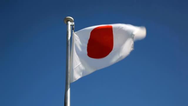 flag of japan. - japan flag stock videos & royalty-free footage