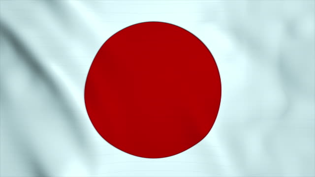 flag of japan - japan flag stock videos & royalty-free footage