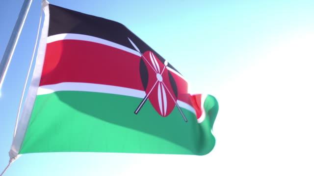 flag of kenya - kenyan flag stock videos & royalty-free footage