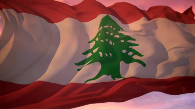flag of lebanon - lebanese flag stock videos and b-roll footage
