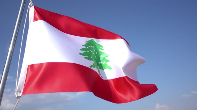flag of lebanon - lebanon country stock videos & royalty-free footage