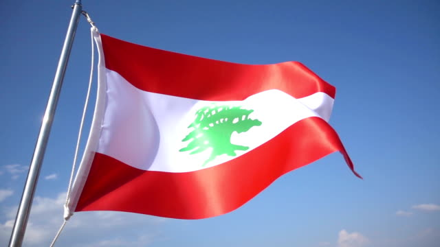 flag of lebanon - lebanese ethnicity stock videos and b-roll footage