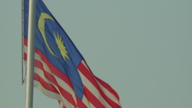 Flag of Malaysia on Flagpole